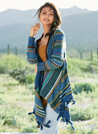 Painted Desert Pima Cotton Cardigan