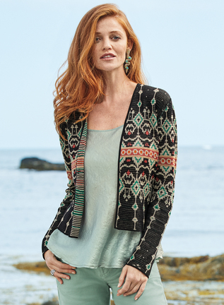 Pima Cotton Reversible Taj Cardigan