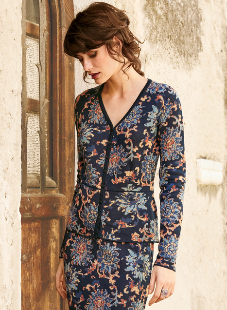 Chinese Floral Knit Jacket