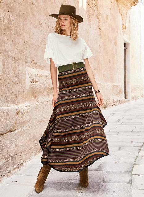 Pima Cotton Pisaq Market Skirt
