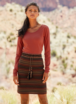 Pecos Pima Cotton Mini-Skirt