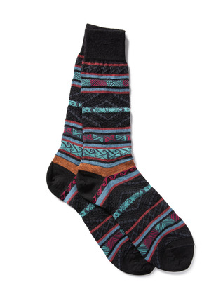 Men's Manta Stripe Baby Alpaca Socks