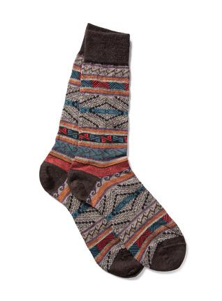 Men's Manta Stripe Baby Alpaca Socks