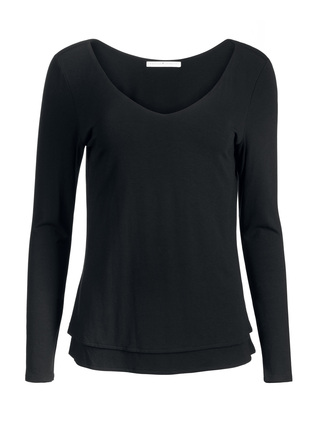 Dual Neck Long Sleeve Top