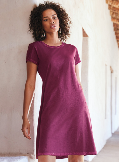 Vintage Wash Pima T-Shirt Dress
