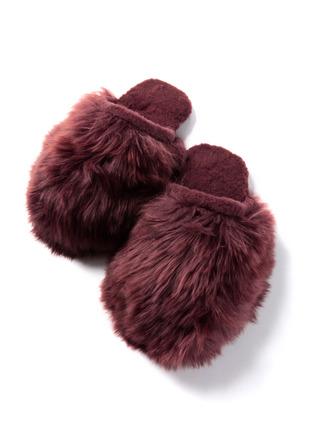 Suri Alpaca Fur Slippers