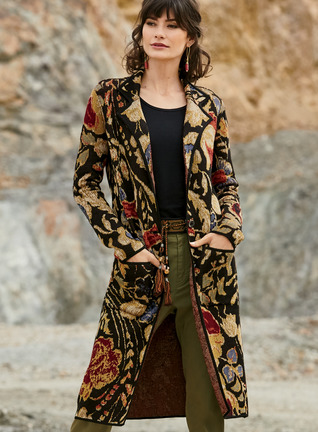 Cloisonne Knit Coat