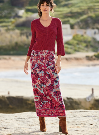 Auberge Pima Cotton Skirt