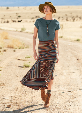 Pima Cotton Sonora Circle Skirt