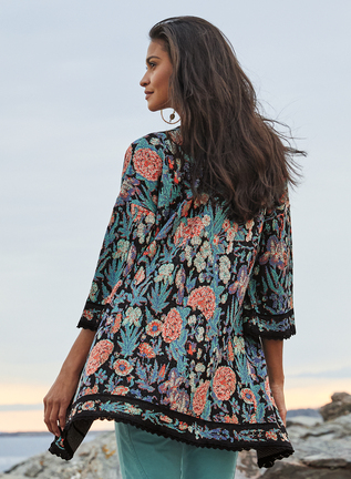 Verbena Pima Cotton Kimono