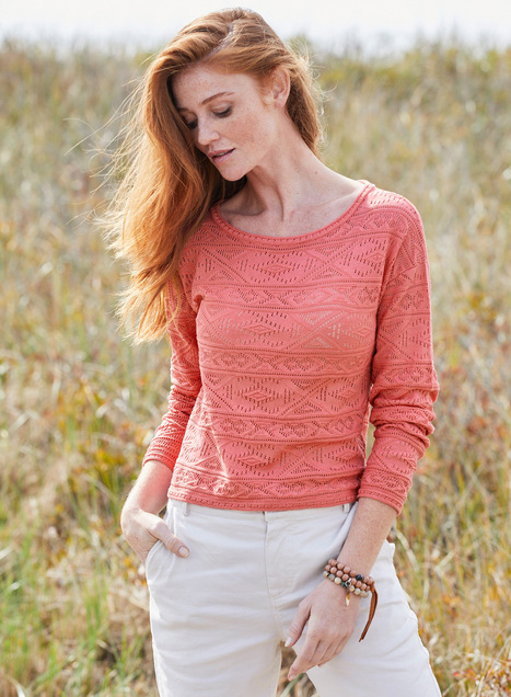 Pima Cotton Ogunquit Lace Top