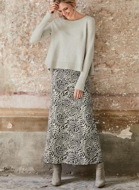Paisley Pima Cotton Maxi-Skirt