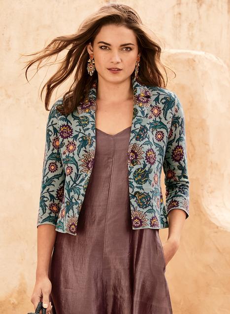 Moroccan Tile Pima Knit Jacket