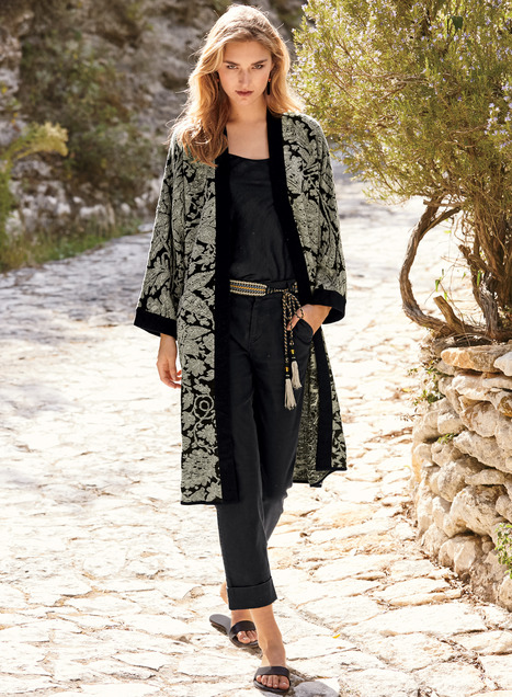 La Scala Pima Cotton Kimono