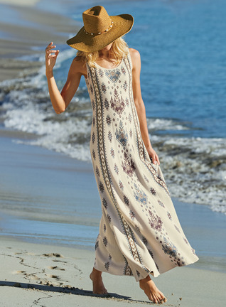 Rhodes Pima Cotton Maxi-Dress