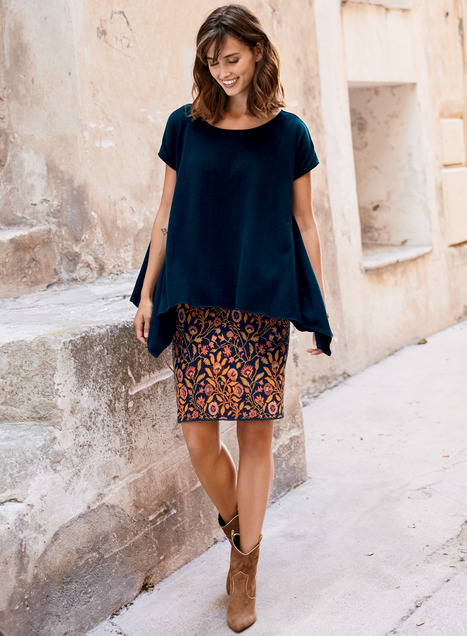 Pima Cotton Daya Short Skirt