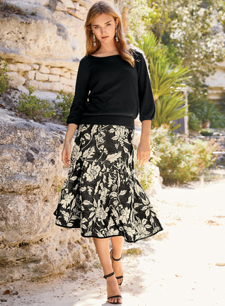 Nightfall Pima Cotton Skirt