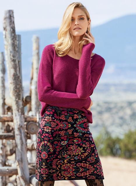 Gem Flower Pima Cotton Mini-Skirt