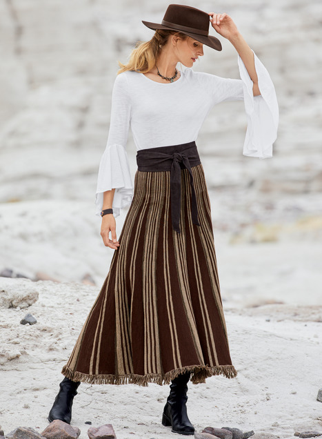 Cordillera Baby Alpaca Maxi-Skirt