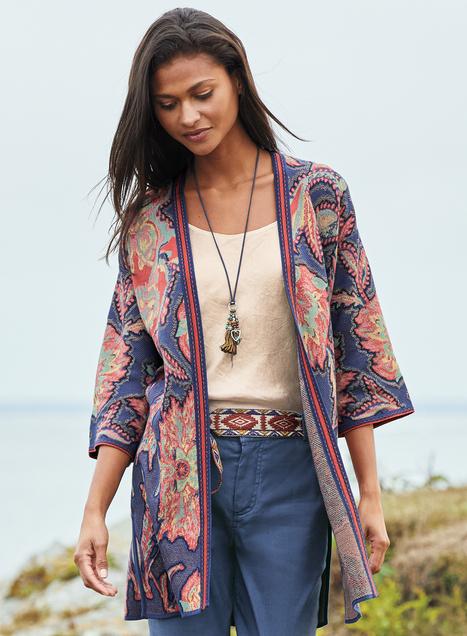 Kagami Pima Cotton Kimono