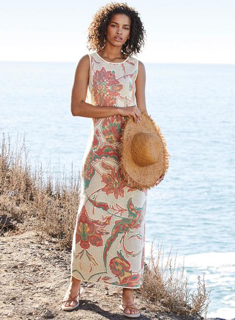 Ikebana Pima Cotton Dress