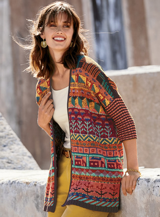 Sampler Pima Cotton Cardigan