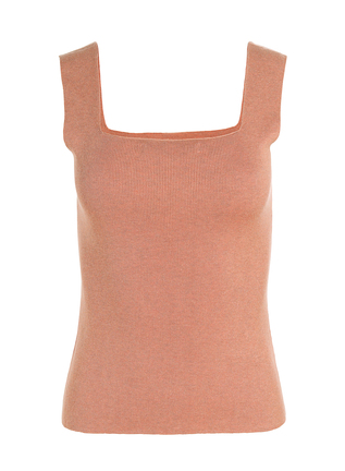 Pima Cotton Square Neck Tank