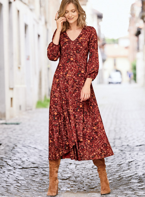 Lacquer Rose Dress
