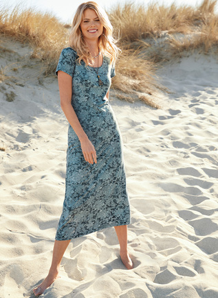 Chambray Filigree Dress