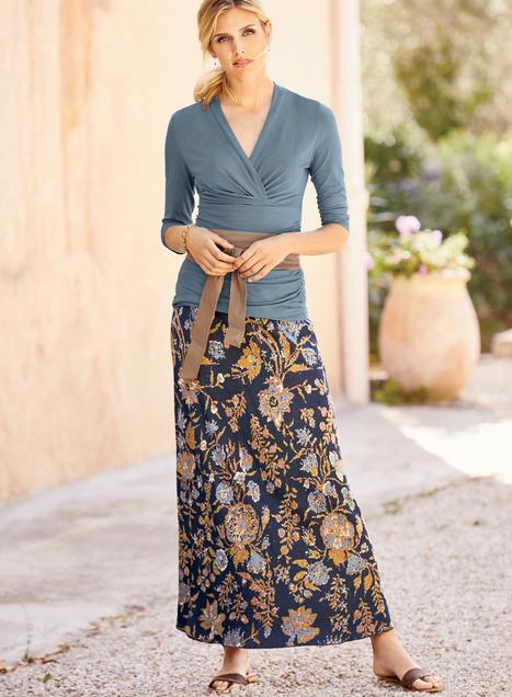 Solange Pima Cotton Maxi-Skirt