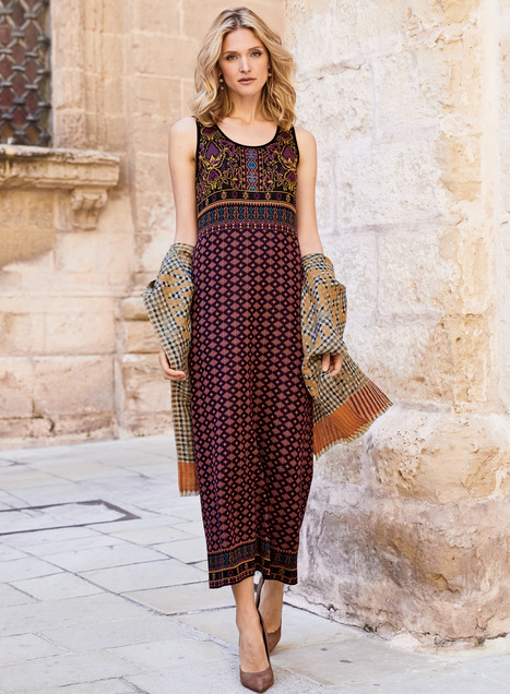 Modena Pima Cotton Maxi-Dress