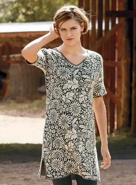 Juliana Pima Cotton Tunic-Dress