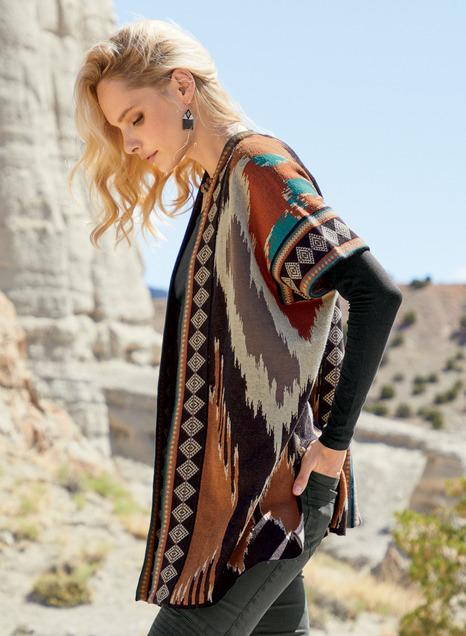 Uzbek Ikat Pima Cotton Cardigan
