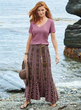 Borocay Pima Cotton Maxi-Skirt
