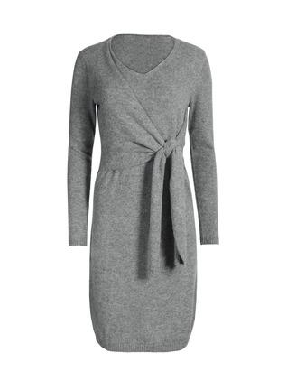 Royal Alpaca Faux-Wrap Dress