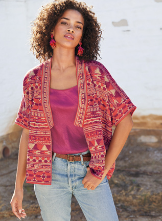 Agra Pima Cotton Reversible Kimono