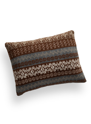 Fair Isle Knit Alpaca Pillow