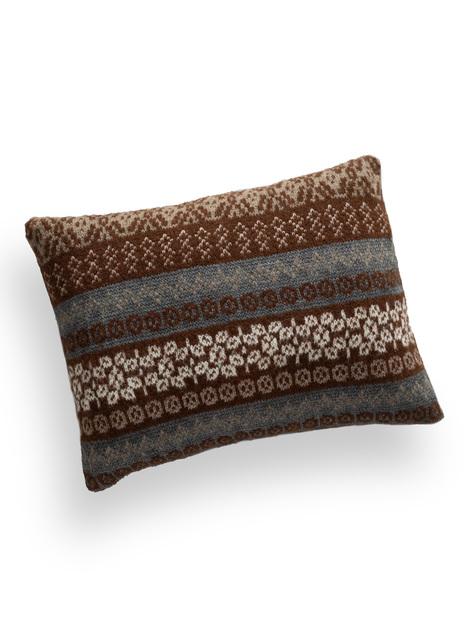 Fair Isle Knit Alpaca Pillow