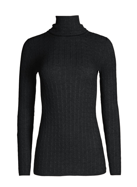 Pima Cable Rib T-Neck