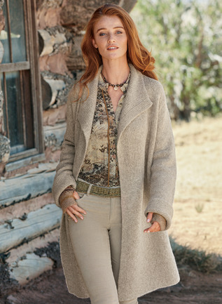 Saratoga Alpaca Knit Coat