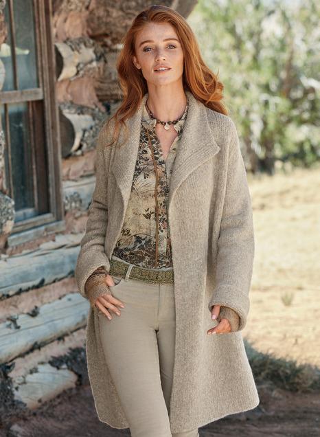 Saratoga Alpaca Knit Coat