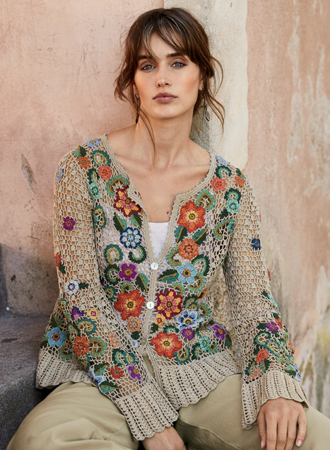 Millefiori Pima Cotton Cardigan