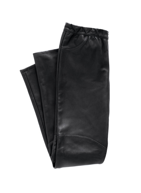 Bonded Leather Trousers
