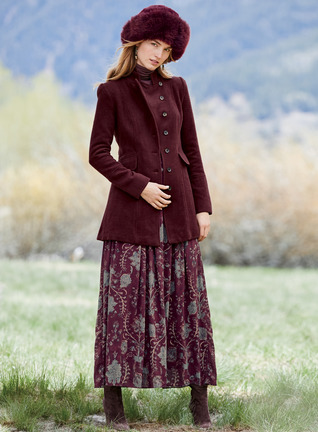 Persian Brocade Maxi-Skirt