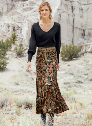 Wallpaper Maxi-Skirt