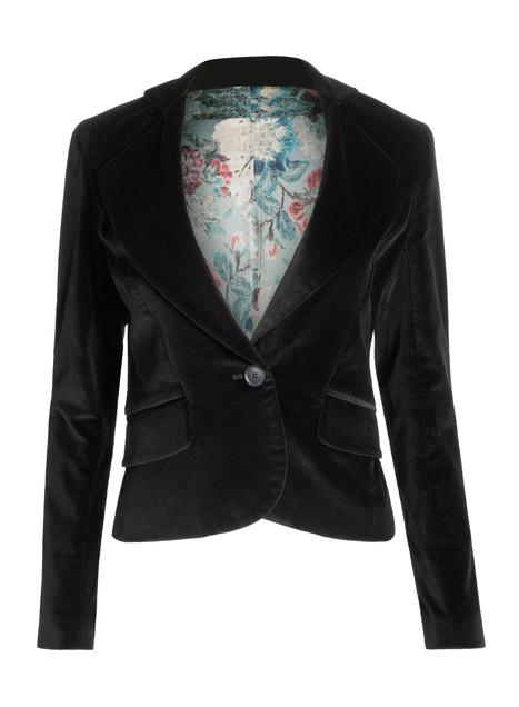 Velveteen Peplum Jacket