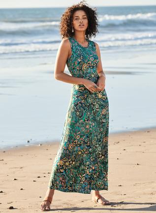 Batik Print Summer Dress