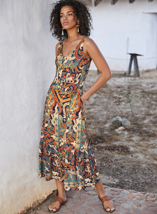 Sumatra Double V-Neck Dress