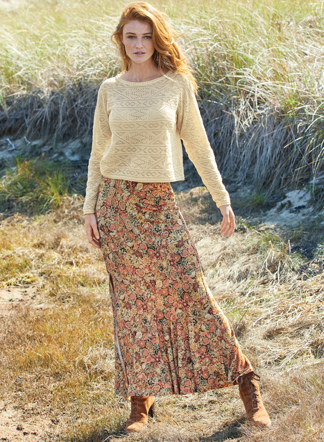Millefiori Maxi-Skirt