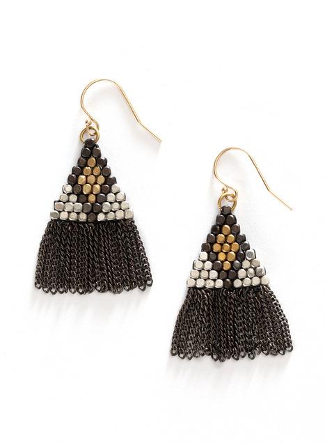Fringed Pyramid Earrings